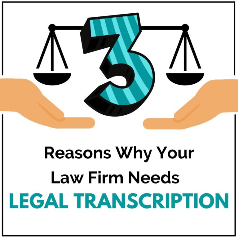 A picture showing reasons why law firms needs legal transcription